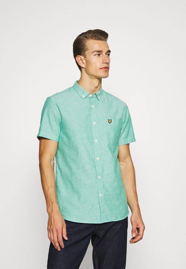 SHORT SLEEVE LIGHT WEIGHT SLUB OXFORD - Shirt - aqua salt/white