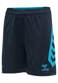 Hummel - HMLACTION  - Sports shorts - black iris/atomic blue - 2