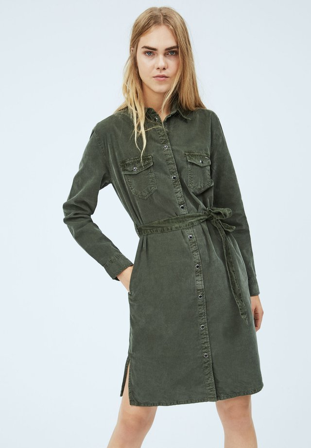 AMELIA - Jeanskjole / cowboykjoler - after dark green