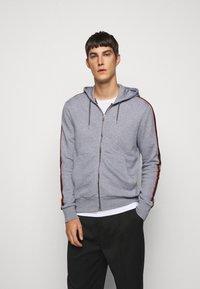 Paul Smith - GENTS ZIP THROUGH TAPED SEAMS HOODY - Sweater met rits - mottled grey - 0