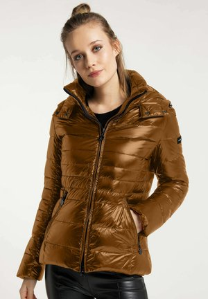 NEW ISTRESS - Down jacket - copper brown