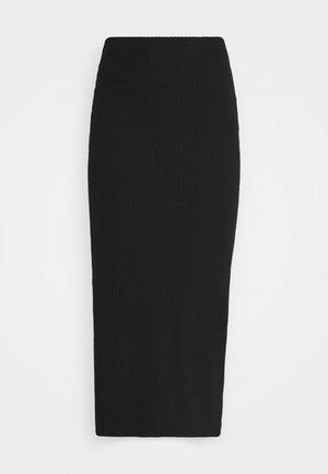 ONLNELLA LONG SLIT SKIRT  - Kynähame - black