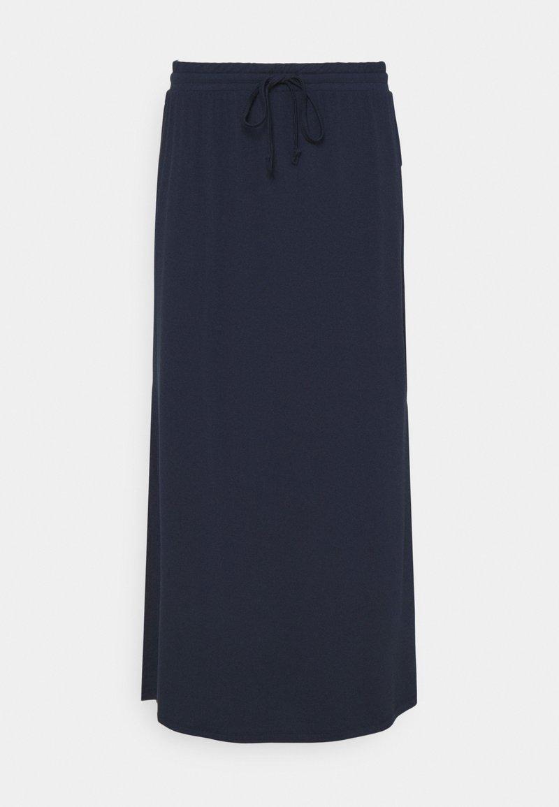 VILA PETITE - VIDELL MAXI SKIRT - Maxi skirt - navy blazer