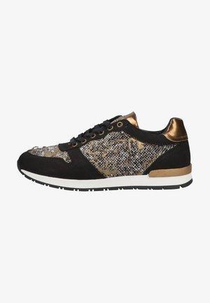 Sneakers laag - schwarz  weiß  gold