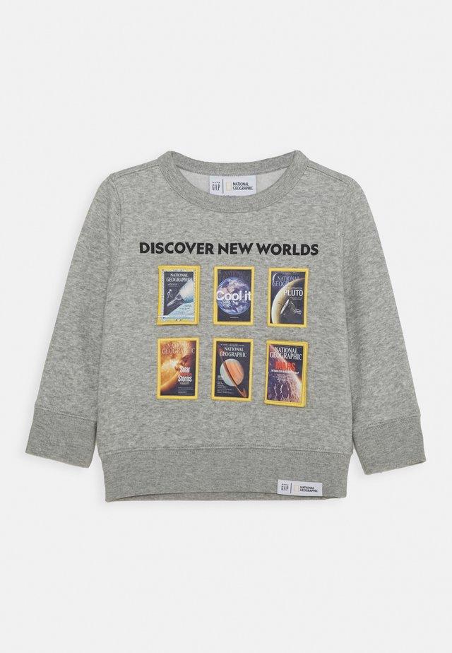 TODDLER BOY NATIONAL GEOGRAPHIC GEO CREW - Sweatshirt - light heather grey