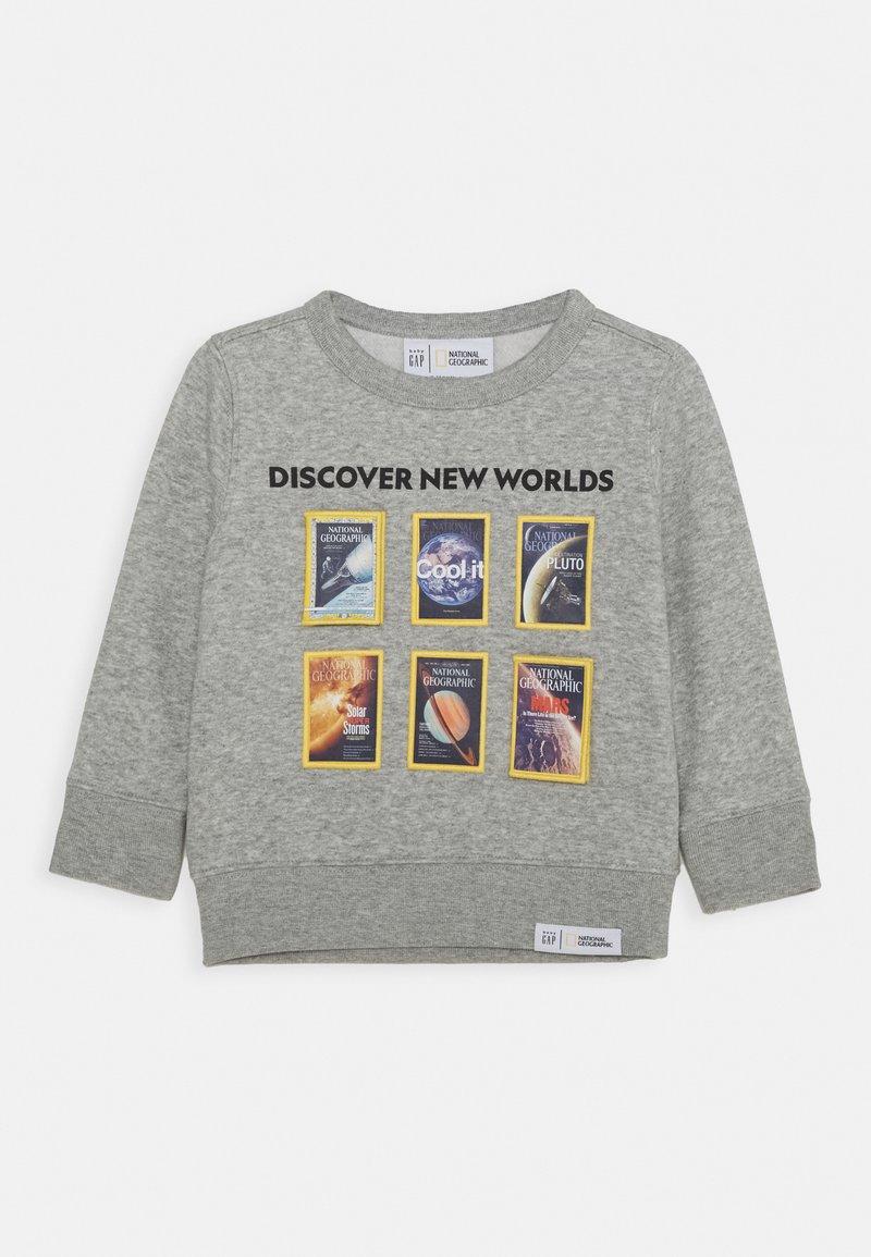 GAP - TODDLER BOY NATIONAL GEOGRAPHIC GEO CREW - Sweater - light heather grey
