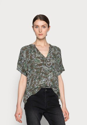EVITY AMBER BLOUSE - T-shirts med print - green