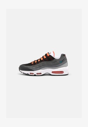 AIR MAX 95 UNISEX - Sneakers laag - black/aquamarine/turf orange/white/anthracite/dark grey