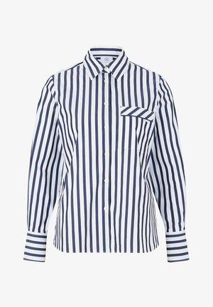 Button-down blouse - navy-blau/weiß