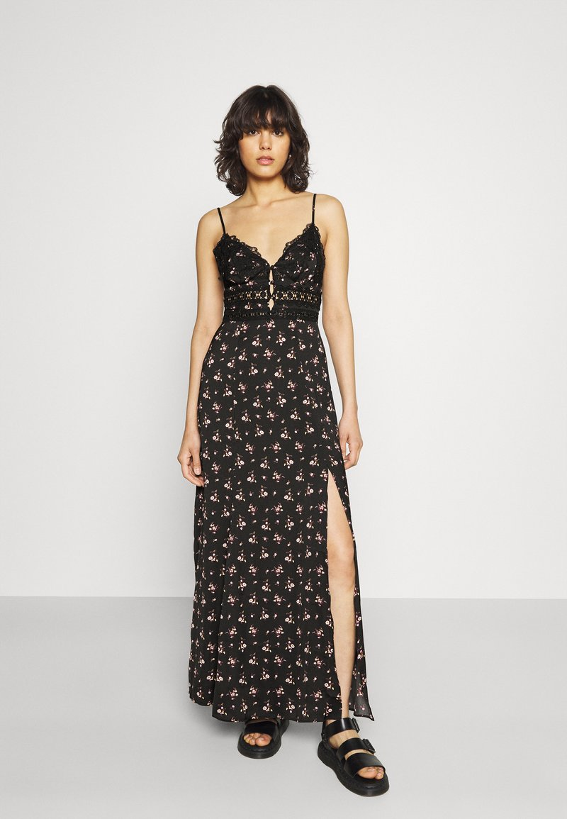 Free People - OUT ABOUT - Maxi dress - black combo