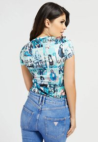 Guess - Print T-shirt - hellblau - 2