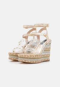 River Island - Platform sandals - gold - 1