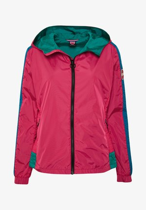 LADIES JACKET - Summer jacket - raspberry/blue fish