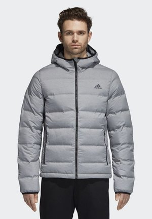 HELIONIC MÉLANGE OUTDOOR HOODED DOWN - Vinterjakker - grey