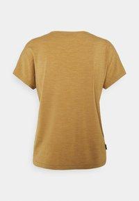 Icebreaker - UTILITY EXPLORE CREW STRIPE - Print T-shirt - coyote - 1