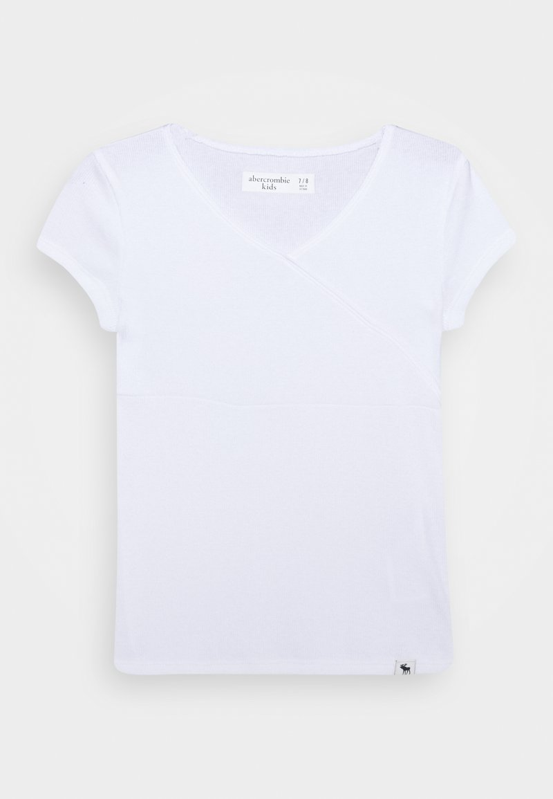 Abercrombie & Fitch - WRAP FRONT TEE - T-shirt basic - white