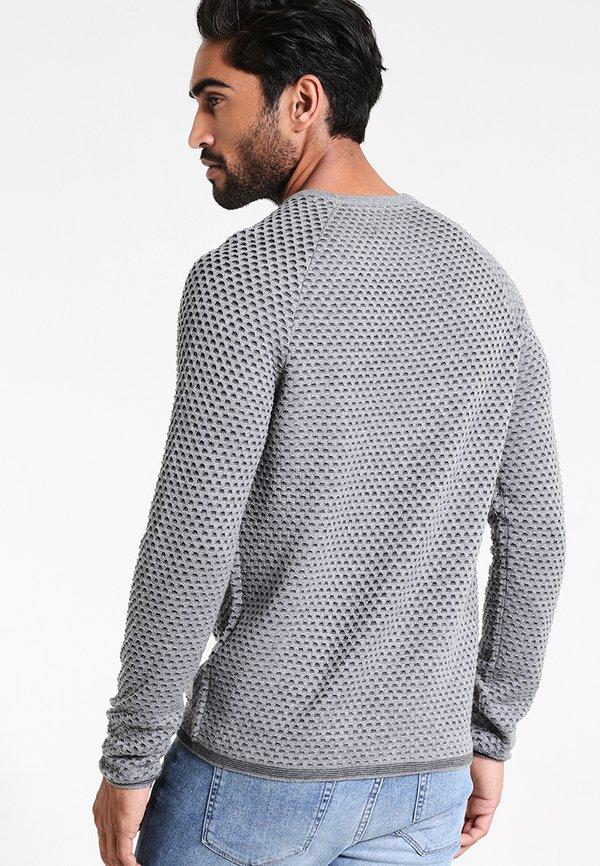 Pier One Sweter - mottled grey/anthracite/szary melanż Odzież Męska MZYL
