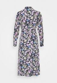 JDY - JDYPIPER ABOVE CALF DRESS - Skjortekjole - black iris/purple/ parisian blue - 1