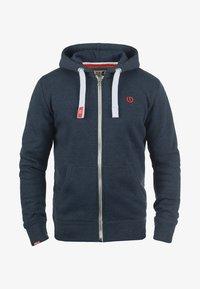 Solid - BENN - Zip-up hoodie - blue melange - 3