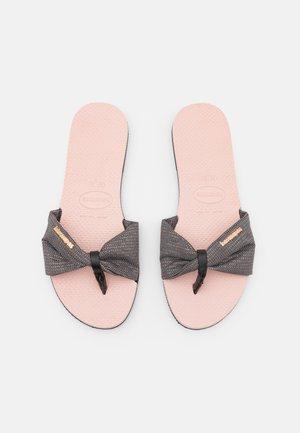 YOU TROPEZ SHINE - T-bar sandals - ballet rose