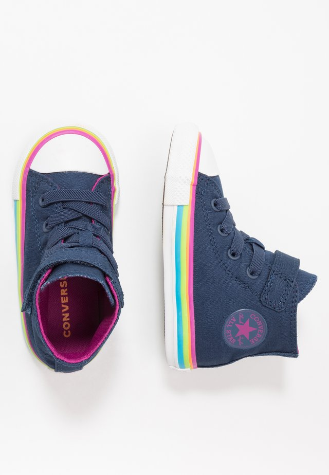 CHUCK TAYLOR ALL STAR - Sneakers alte - navy/cactus flower/white