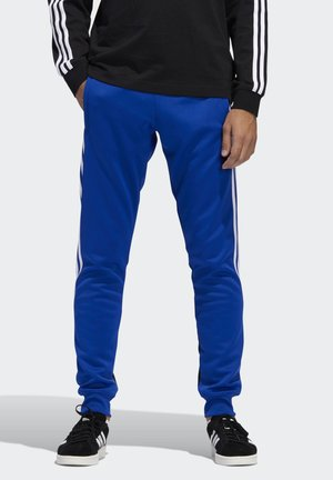STRIPES WRAP TRACKSUIT BOTTOMS - Träningsbyxor - blue