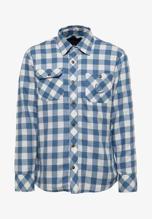 MIT KAROMUSTER - Overhemd - stahlblau