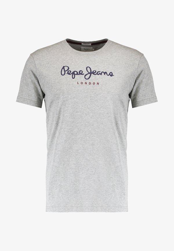 Pepe Jeans EGGO - T-shirt z nadrukiem - grey marlange/szary Odzież Męska MAEN