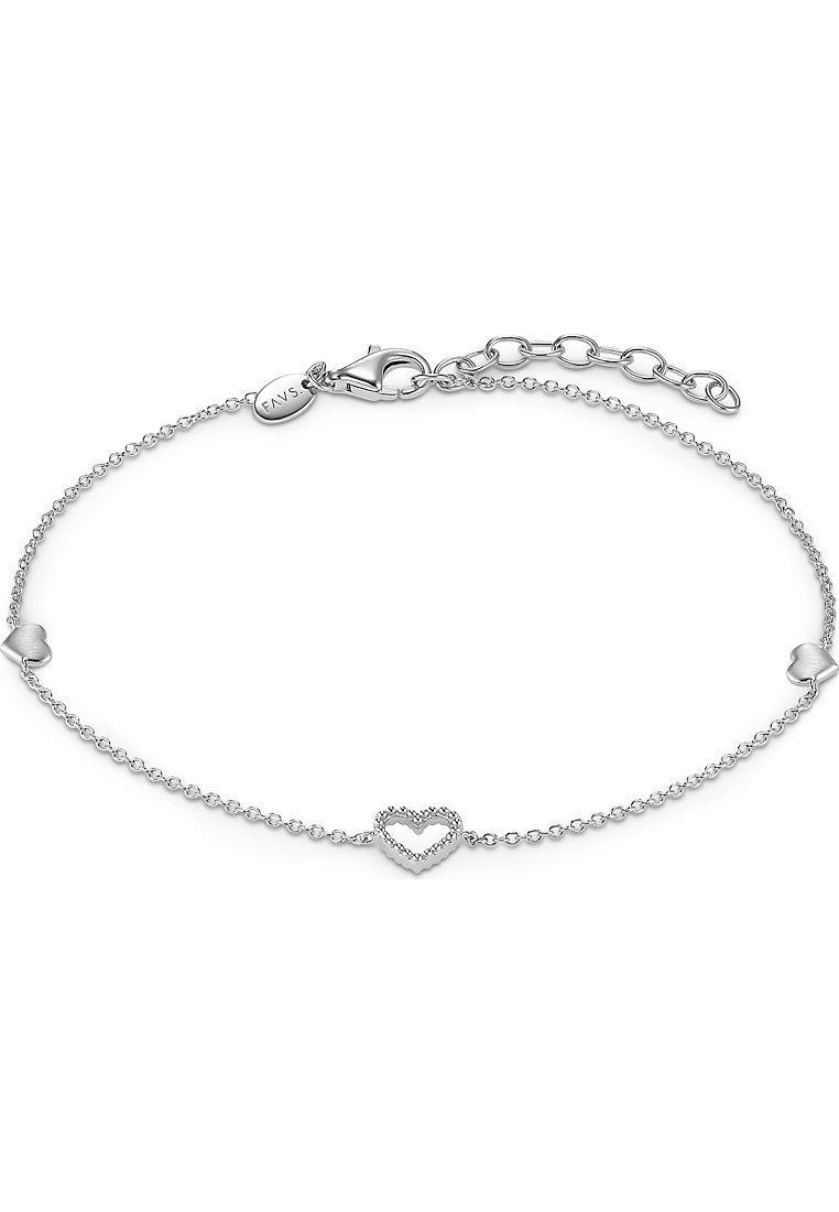 FAVS - FAVS. DAMEN-ARMBAND VALENTIN 925ER SILBER - Bracelet - silber