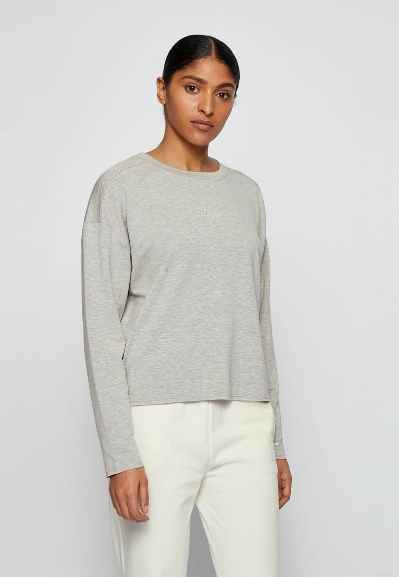 BOSS - C_ELINA_ACTIVE - Langarmshirt - silver