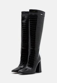 KARL LAGERFELD - LEG BOOT EXOTIK - Kozačky na vysokém podpatku - black - 2