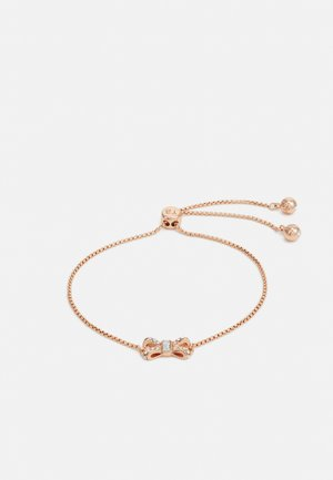 SABSAL SPARKLE BOW DRAWSTRING BRACELET - Pulsera - rose gold-coloured/crystal