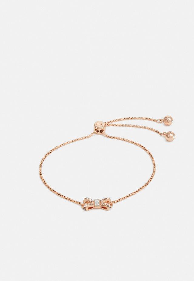 SABSAL SPARKLE BOW DRAWSTRING BRACELET - Bransoletka - rose gold-coloured/crystal
