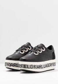 KARL LAGERFELD - KOBO KUP 3 EYE TIE - Sneakers basse - black - 4