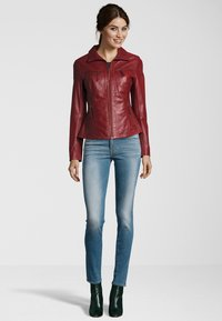 7eleven - Leather jacket - blood red - 1