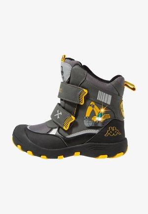 ROAD TEX - Winter boots - grey/yellow