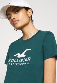 Hollister Co. - T-shirts med print - green - 3