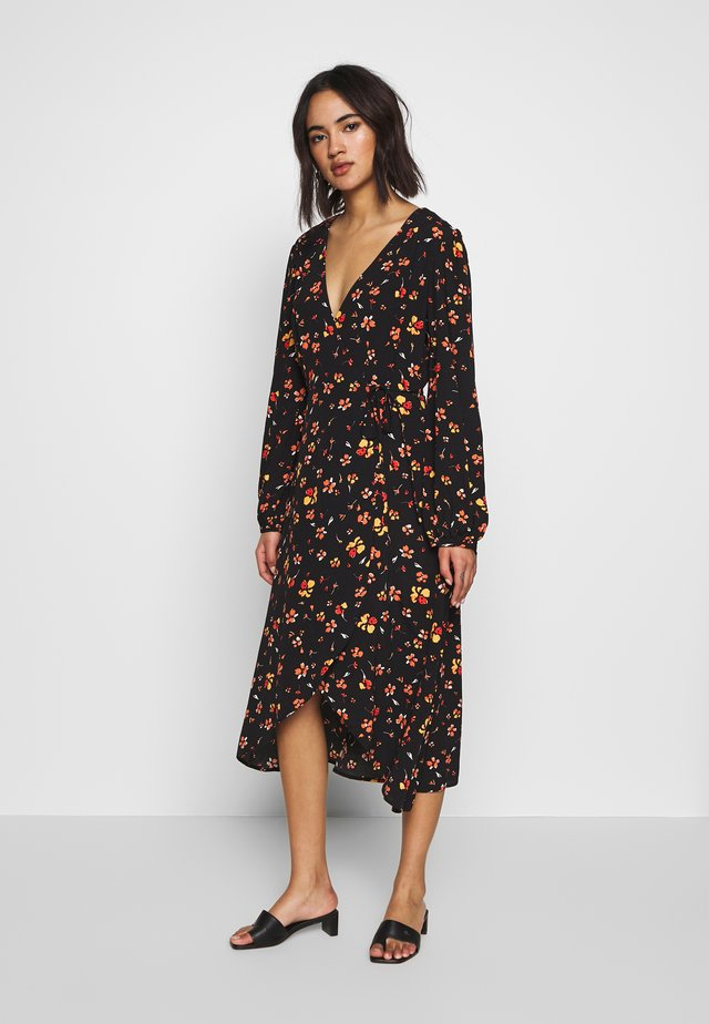 PRINT DRESS - Robe d'été - yellow