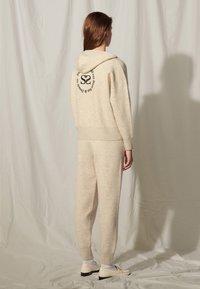 sandro - Zip-up sweatshirt - gris chiné - 2