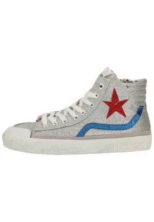 High-top trainers - silver royal 147