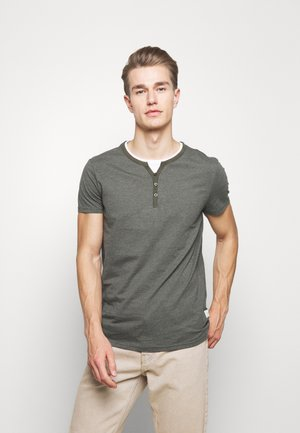 Basic T-shirt - mottled olive