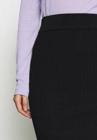 Selected Femme - SLFMARGE SKIRT - Pouzdrová sukně - black - 3
