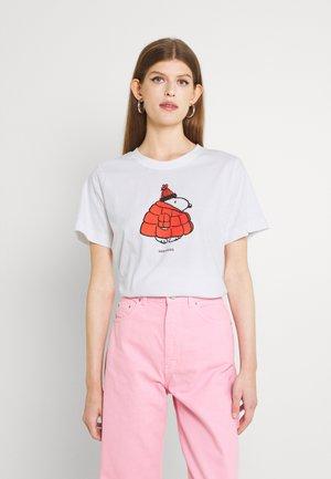 MYSEN SNOOPY PUFFER - T-shirt print - white