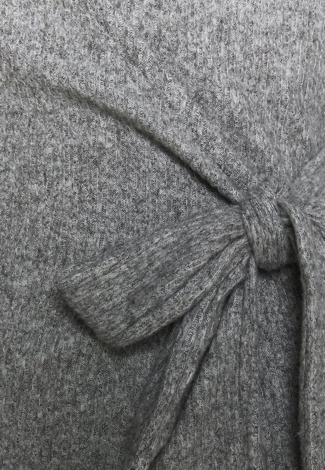 BRUSHED BALLET WRAP - Maglione - grey
