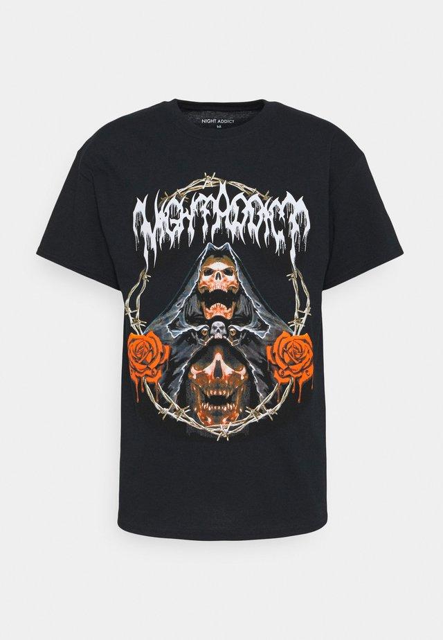 REAPER - T-shirt med print - black