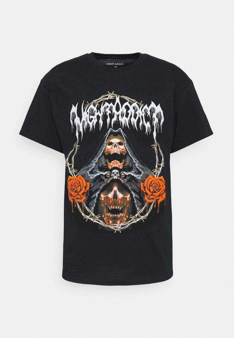 Night Addict - REAPER - Print T-shirt - black