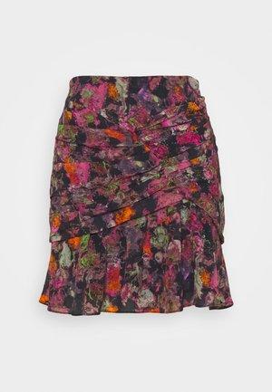 NUADA SKIRT - Pencil skirt - black/pink