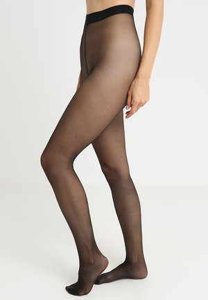 FALKE SEIDENGLATT 15 DENIER STRUMPFHOSE TRANSPARENT GLÄNZEND - Tights - black