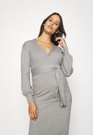 CARDIGAN WITH BUTTONS - Cardigan - grey