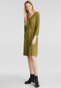 Esprit - FASHION - Korte jurk - olive - 1